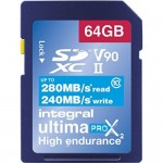 INTEGRAL CARTE SDXC ULTIMA PROX 64GB V90 (280/240MB/S) Class10
